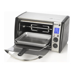 Fagor America - Fagor Dual Technology Digital Toaster Oven - This stainless steel digital toaster oven from Fagor America lets you quickly and easily heat up leftovers or cook meals. It can fit up to a five-pound chicken or 10-inch pizza,and has 10 settings and a blue LCD display for ease of use.