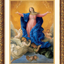 "Amanti Art - Himmelfahrt Mariae (Ascension of Mary) Framed Print by Guido Reni - This print by Italian painter Guido Reni depicts the bodily ascension of the Virgin Mary into heaven - known by the Catholic church as ""The Assumption""."