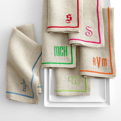 contemporary napkins by Mark and Graham