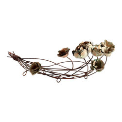 Cyan Design - Leigh Green Rose Basket - Leigh green rose basket - bronze patina