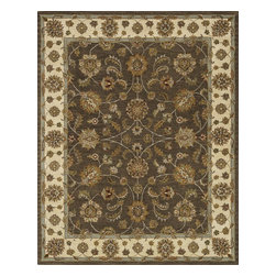 Loloi Rugs - Loloi Rugs Maple Collection - Brown / Beige, 8' x 11' - Transform your home into a manor steeped in elegance and tradition with the majestic Maple Collection. These timeless Persian designs carry the rich heritage of centuries of carpet making in each arabesque, stylized flower and intricate border. Maple Collection rugs are hand-tufted in India of 100-percent wool so they are eco-friendly and mindfully crafted with sustainable materials. With colors as rich as these, you will feel like nobility every time you walk into your home.