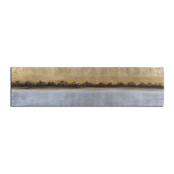 Uttermost - Hand Painted Canvas Meadow Lights 72In.W X 18In.H Abstract Painting - Hand Painted Canvas Meadow Lights 72In.W X 18In.H Abstract Painting