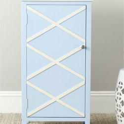 Safavieh - Safavieh Cary Light Blue/ White Small Cabinet - Crisp color and charming simplicity give the Cary small cabinet a fashion edge.