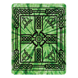 Zeckos - Kelly Green Celtic Cross Cotton Tapestry 100 Inch x 90 Inch - This 100% cotton, 100 inch by 90 inch tapestry features a Celtic Cross in the center, with Celtic knotwork patterns framing the cross. Made in India using traditional methods, the tapestry can be hung on the wall, but also makes a great bedspread, table cloth or window treatment. It makes a great gift for any fan of the macabre.