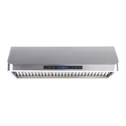 "Atlas International Inc - Euro Mount Range Hood 36"" - Cavaliere, Under Cabinet - Cavaliere Stainless Steel 260W Under Cabinet Range Hood with 4 speeds, timer Function, LCD Keypad, Stainless steel baffle filters, and halogen lights."