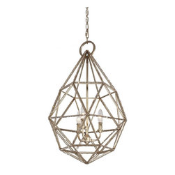 """Restoration Warehouse - Restoration Warehouse Marquise Pendant-Burnished Silver - Total Height: 95''Supplied with 160'' of wireSupplied with 60'' of chainCanopy: H: 1 5/8''  Diameter: 5 1/2"""""""