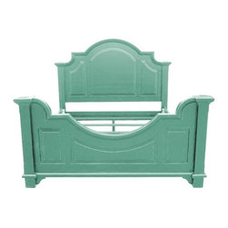 EuroLux Home - New Queen Bed Blue Painted Hardwood - Product Details