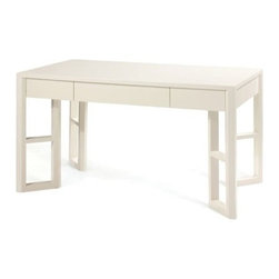 Bungalow 5 - Langham Desk , White Lacquer Finish - Will paying bills be easier while sitting at this desk? Maybe not, but at least they will look pretty!