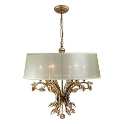 Uttermost - Alenya 6-Light Shade Chandelier - You know all chandeliers are not created equal. And this chandelier knows it, too. This one will be the focal point in a dining room, living room or entryway. Let it shine.
