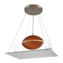 Elk Lighting - ELK Lighting 1-Light Football Field Pendant Light Fixture - Bring your love of the game into any room with this wonderfully whimsical lighting fixture.