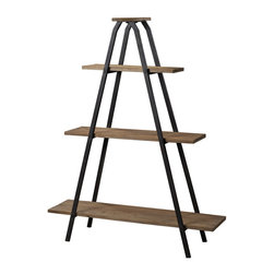 "Sterling Industries - Sterling Industries 51-10003 Wooden ""A"" Line Shelves w/ Metal Frame - Shelf (1)"