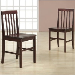 Tolland Espresso Wood Dining Chairs - Set of 2 - The Tolland Espresso Wood Dining Chairs - Set of 2 includes a comfortable pair of chairs that are ideal for replacing or adding to any Tolland Wood Dining Table. Constructed with a solid hardwood frame, each chair comes in an warm espresso finish.About Walker EdisonSpecializing in quality furniture at low prices, Walker Edison Furniture Company manufactures a wide variety of furniture pieces for the North American marketplace. From bedroom furniture and desks, to coffee tables, dining tables, and TV stands, Walker Edison provides practical decor solutions for today's functional homes. With factories strategically located all over the world, Walker Edison balances cost with low-priced raw materials and skilled artisans to deliver smart furniture pieces that fit every budget.
