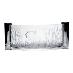 Lalique - Lalique Kora Wall Sconce Chrome - Lalique Kora Wall Sconce Chrome 1002099  -  Size: 4.33 Inches Long x 16.14 Inches Wide x 6.89 Inches Tall  -  Genuine Lalique Crystal  -  Fully Authorized U.S. Lalique Crystal Dealer  -  Created by the Lost Wax Technique  -  No Two Lalique Pieces Are Exactly the Same  -  Brand New in the Original Lalique Box  -  Every Lalique Piece is Signed by Hand, a Sign of its Authenticity and Quality  -  Created in Wingen on Moder-France  -  Lalique Crystal UPC Number: 090592100202