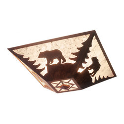 Steel Partners Inc - Drop Ceiling Mount - BEAR - Every piece we create is unique — handcrafted at our factory in Chehalis, Washington, USA. Due to this, lead times are 2 to 4 weeks.