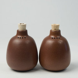 Canoe: Heath Salt & Pepper Set - Add some classic Heath Ceramic style to your tablescape via these darling ceramic salt and pepper shakers.