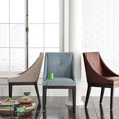 contemporary dining chairs and benches by West Elm