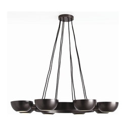Arteriors Sorrel 8 Light Iron/Glass Chandelier
