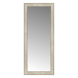 """Posters 2 Prints, LLC - 14"""" x 32"""" Libretto Antique Silver Custom Framed Mirror - 14"""" x 32"""" Custom Framed Mirror made by Posters 2 Prints. Standard glass with unrivaled selection of crafted mirror frames.  Protected with category II safety backing to keep glass fragments together should the mirror be accidentally broken.  Safe arrival guaranteed.  Made in the United States of America"""