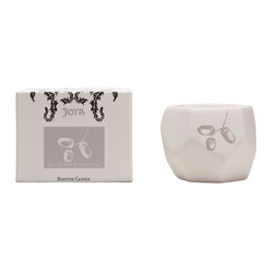 "Joya - Bois de Rose Candle - Bois de rose, translated as ""wood of rose"", is a highly valued mossy, flowery scent. Paired with cedar wood in this natural soy and beeswax candle, the resulting scent is a bouquet of wild blooms and wood. You'll adore the ceramic holder, designed by artist Sarah Cihat."