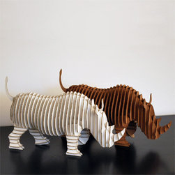 Rambling Robbie Jr. Medium Rhino - Child-friendly trends are the best. Your little ones will love overseeing a cardboard safari.