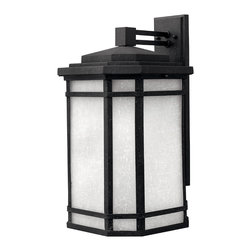 Hinkley Lighting - CherryCreek Large Wall Outdoor - Cherry Creek's modern take on the popular Arts and Crafts style has a timeless appeal. The cast aluminum construction is enhanced by the warmth of the finish and the vintage-looking glass.