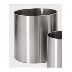 Zack - Grande Round Flower Pot - Stylish and logical design. Brushed silk polish. Made from 18/10 stainless steel. Matte finish. Made in Germany. 11.82 in. Dia. (77.6 oz.)Plants enliven any environment. Whether you have a Yucca or Ficus, our Grande planters will perfectly complement your plants.