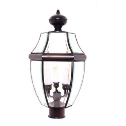 South Park-Outdoor Pole/Post Mount - South Park is a traditional, early American style collection from Maxim Lighting International available in multiple finishes with Clear glass.