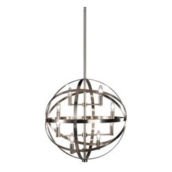 "Robert Abbey - Robert Abbey | Lucy Pendant Light - By Robert Abbey.The Lucy Pendant Light features a metal body available in dark nickel finish or deep patina bronze finishes. Suspension hardware includes 3 X 12"" extension rods and 1 X 6"" extension rod."