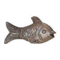 Cal Lighting - Fish Resin Finial in Brown Finish - Resin finial . Height: 1.38 in.. Base: 1.75 in.