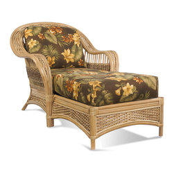 Rattan Chaise: Tropical Breeze - Tropical Breeze Rattan Chaise: