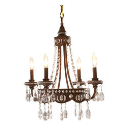 Quoizel - Quoizel QMC404BO Seville Traditional Mini Chandelier - Mini Chandeliers are the perfect accent for a powder room, hallway, bedroom, or any other nook you want to look fabulous. Sparkling crystals and a rich finish add dramatic style to your smaller rooms. This piece can be mounted flush against the ceiling, or hung from the decorative chain.