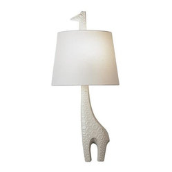 Robert Abbey Jonathan Adler Ceramic Giraffe Wall Sconce (Left Facing)