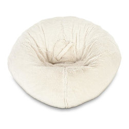 ABC Lifestyle - Fur Bean Bag - White Polar Bear - Durable fur fabric and double stitched seams for durability. Ergonomic seating position. Great for reading, playing video games, watching TV, relaxing. Overall Dimensions: 32 in. L x 30 in. W x 13 in. H (6 lbs)