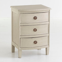 Three-Drawer Petite Chest - This nightstand has classic lines and is perfect for a tight space.