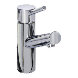 Miseno - Miseno Modern Single Hole Bathroom Faucet Metal Pop-Up Drain - Polished Chrome - Product Features: