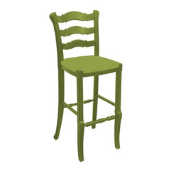Trade Winds - New Trade Winds Bar Stool Green Painted - Product Details
