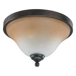 "Nuvo Lighting - Nuvo Lighting 60-2753 Montgomery 2-Light 13"" Flush Dome with Champagne Linen Gla - Nuvo Lighting 60-2753 Montgomery 2-Light 13"" Flush Dome with Champagne Linen Glass"