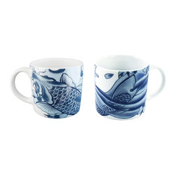 Irezumi Mugs Gift - Set of 2 - Ranked #2 in the Ultimate Metropolitan Home Design 100, this design will get under your skin. Imagined by LA's top tattoo artist, Paul Timman, these unique pieces take inspiration from Japan's tattoo traditions. Perfect for young professionals and apartment dwellers.