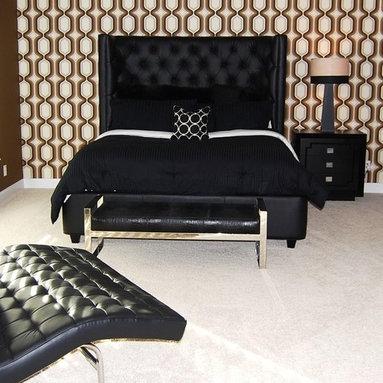 Custom Design Upholstered Furniture - Tufted Headboard on a Platform Bed Frame