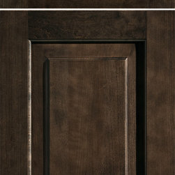 """Dura Supreme Cabinetry - Dura Supreme Cabinetry Hawthorne Cabinet Door Style - Dura Supreme Cabinetry """"Hawthorne"""" cabinet door style in Cherry shown with Dura Supreme's """"Poppy Seed"""" gray stained finish."""