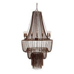 "Arteriors - Arteriors Home - Maxim 7 Light Iron Beaded Chandelier - 89414 - Arteriors Home - Maxim 7 Light Iron Beaded Chandelier - 89414 Features: Maxim Collection ChandelierIron ColorDark antiqued brass FinishSeven lights Some Assembly Required. Dimensions: 22"" W x 46"" H"