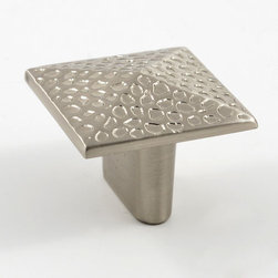 Rough Square Cabinet Knob - This pyramid shaped knob has a textured surface adds interest and style to any room's decor. Pair with coordinating pieces to update an entire room.