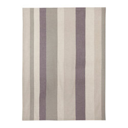 Emma at Home - Soft City Baby Alpaca Throw Blanket - The soft gray and lavender stripes on this blanket seem made to calm and soothe you to sleep. Can't you imagine this draped over a rocker in a nursery, ready for impromptu naps?