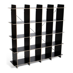 """Quark Enterprises - 16-Cubby Organizer, Black - A new addition to our Cubby Organizer line, the 16 Cubby Organizer is sized right in the Goldilocks Zone: """"Just Right"""". Like our other storage furniture options, the 16 Cubby Organizer is meant to be used with our kids' storage bins. You can use it to store books and clothes or fill the bins with art supplies and other knick knacks. With so much space to put things your kids' rooms will always be neat and tidy."""