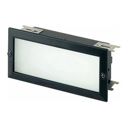 Sea Gull Lighting - 2-Light Recessed Brick-Light Black - 9242-12 Sea Gull Lighting 2-Light Recessed Brick-Light with a Black Finish