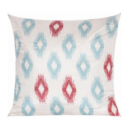 Vintage Maya - Uzbek Ikat Pillow Cover - Toss pillows are a simple, effective way to create an inviting room. Ikat is a pattern sure to add dimension to your decor. So in an ikat patterned pillow, you've found the perfect way to renew your favorite easy chair.