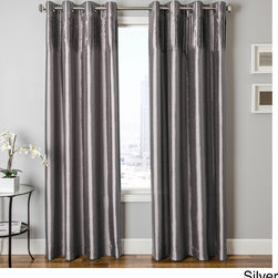 None - Cosmo Faux Silk Grommet Top Curtain Panel - You'll love updating your home decor with new window panels that offer a traditional and contemporary look. The cosmo faux silk pleated,crushed and pin tucked window treatments will add a luxurious look to your home.