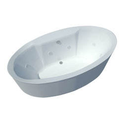 Spa World Corp - Atlantis Tubs 3468SD Suisse 34x68x24 Inch Freestanding Air and Whirlpool - The Suisse series features contemporary oval design. The increased interior depth allows bathers to enjoy the true deep soak, turning each bathing session into an unforgettable experience. The Atlantis Whirlpools jet massaging action is created by combining hot water with air bubbles and moving the mixture at high speeds through jet nozzles. These streams of water loosen tight muscles and stimulate the release of endorphins, the body's natural painkillers, helping to melt away any aches and pains. The overall effect leaves you feeling physically, mentally and emotionally relaxed and refreshed. Freestanding tubs are meant to be proudly displayed rather than crowded in a corner and add character to your bathroom.