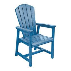 C.R. Plastic Products - C.R. Plastics Addy Dining Arm Chair In Blue - C.R. Plastics Addy Dining Arm Chair In Blue