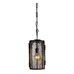 BoBo's Intriguing Objects - Dye Basket Pendant - If your decor signature is traditional with a twist, these charming fixtures belong in your favorite setting. Inspired by old-fashioned dye baskets, the cool cages of blackened iron bring a touch of industrial chic as they light up your world.